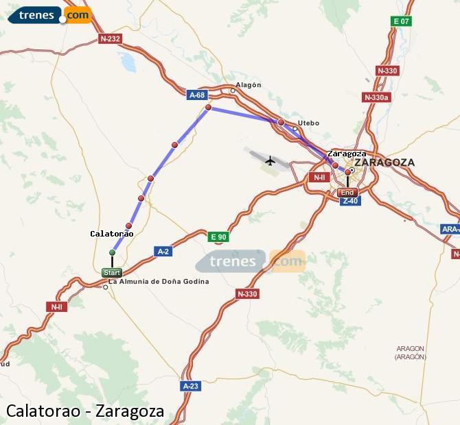 Ingrandisci la mappa Treni Calatorao Zaragoza