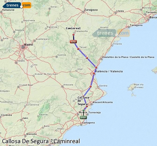 Ampliar mapa Comboios Callosa De Segura Caminreal