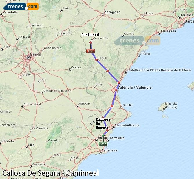Ampliar mapa Trenes Callosa De Segura Caminreal