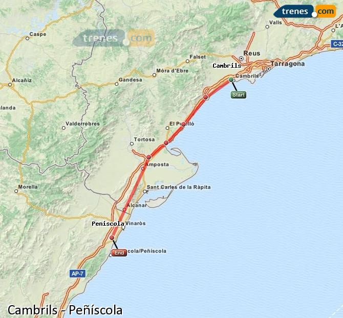 Cheap Cambrils To Peniscola Trains Tickets From 5 50 Trenes Com