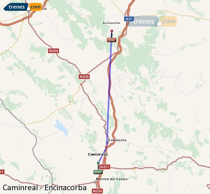 Ingrandisci la mappa Treni Caminreal Encinacorba