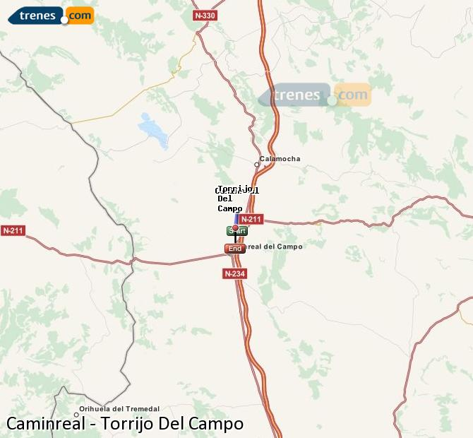 Ampliar mapa Trenes Caminreal Torrijo Del Campo
