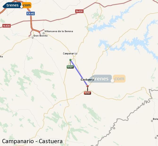 Ampliar mapa Trenes Campanario Castuera
