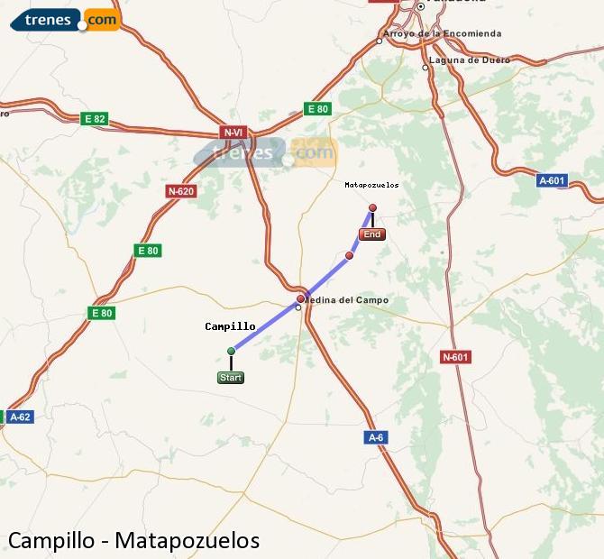 Ampliar mapa Trenes Campillo Matapozuelos