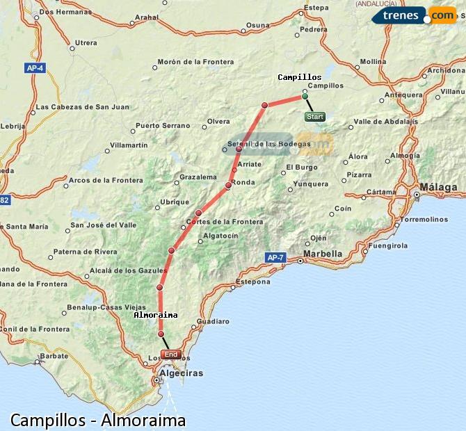 Ingrandisci la mappa Treni Campillos Almoraima
