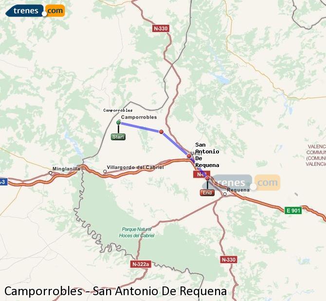 Ampliar mapa Trenes Camporrobles San Antonio De Requena