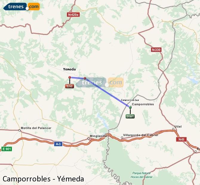 Ingrandisci la mappa Treni Camporrobles Yémeda
