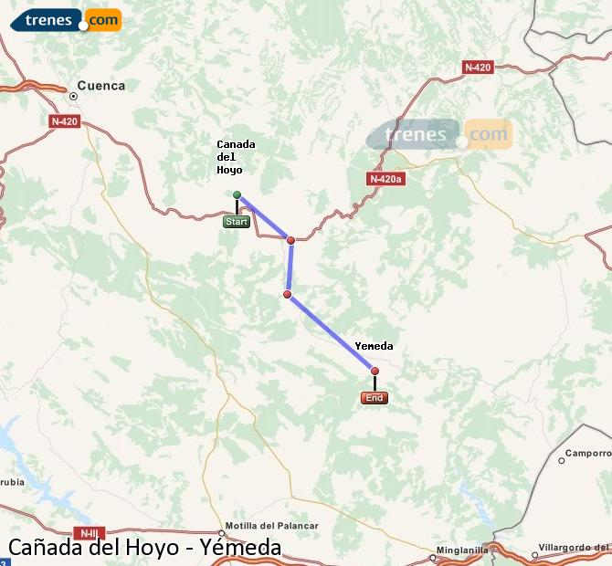 Ingrandisci la mappa Treni Cañada del Hoyo Yémeda
