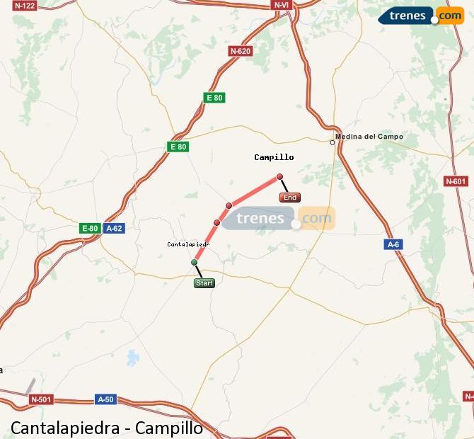 Ingrandisci la mappa Treni Cantalapiedra Campillo