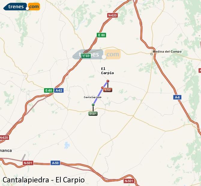 Ingrandisci la mappa Treni Cantalapiedra El Carpio