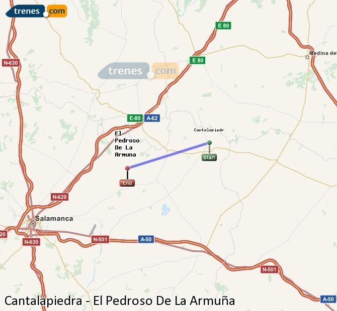 Ingrandisci la mappa Treni Cantalapiedra El Pedroso De La Armuña