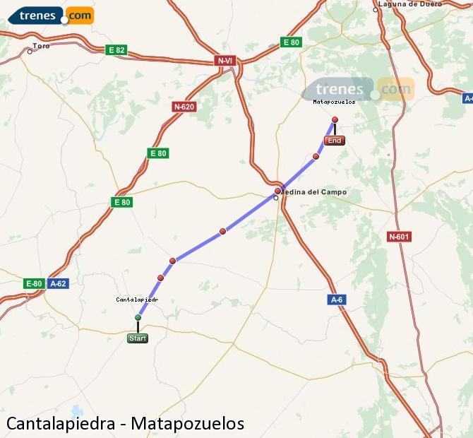 Ingrandisci la mappa Treni Cantalapiedra Matapozuelos