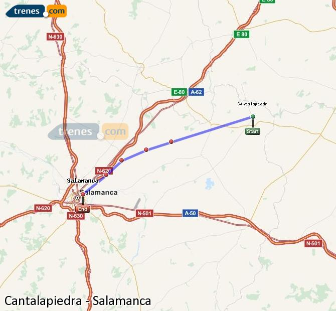 Enlarge map Trains Cantalapiedra to Salamanca