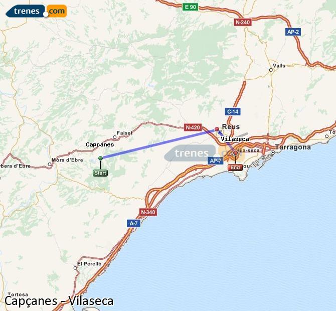 Ampliar mapa Comboios Capçanes Vilaseca