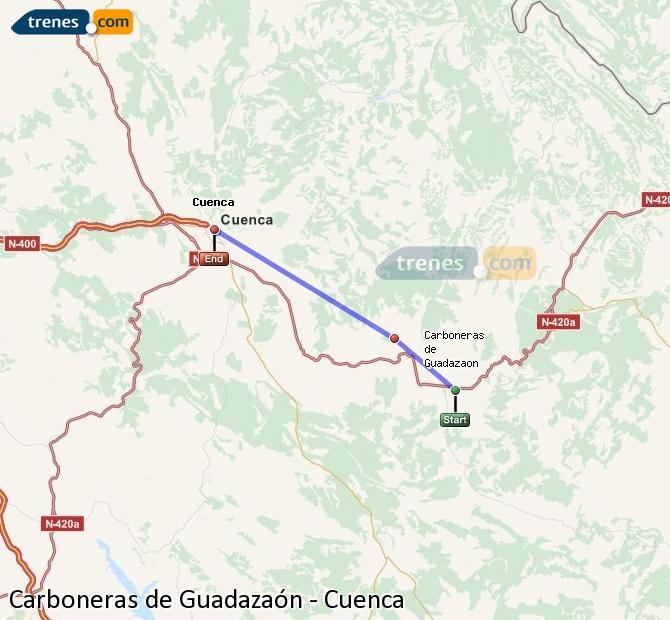 Ingrandisci la mappa Treni Carboneras de Guadazaón Cuenca