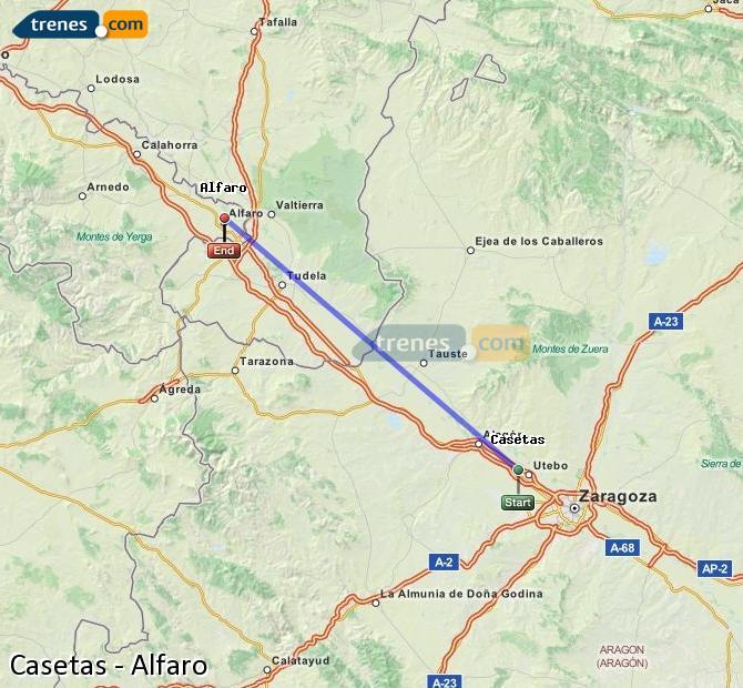Ampliar mapa Trenes Casetas Alfaro
