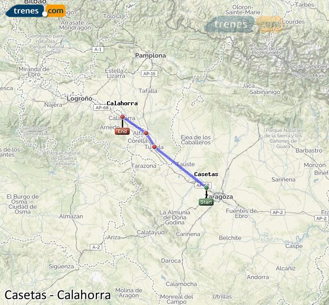 Ampliar mapa Trenes Casetas Calahorra