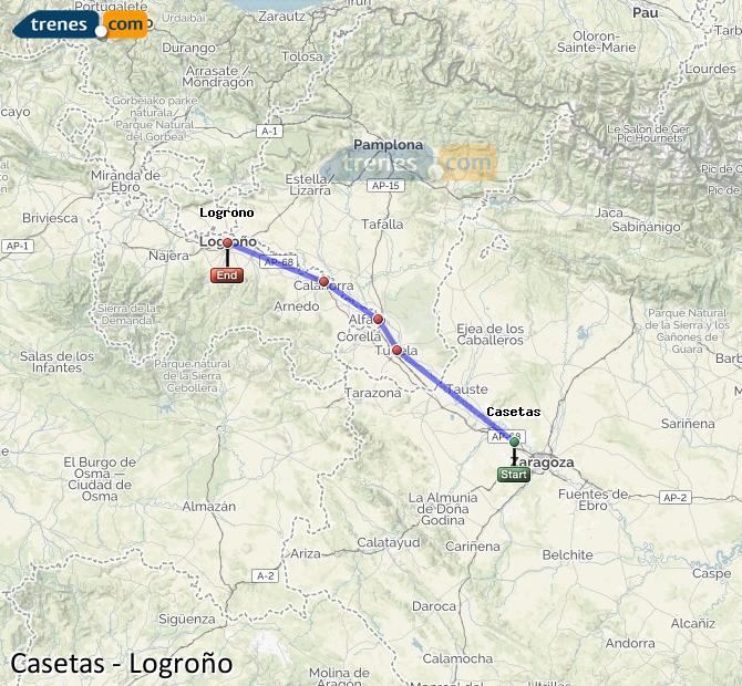 Ampliar mapa Trenes Casetas Logroño