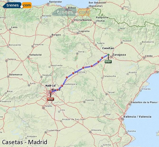 Ampliar mapa Trenes Casetas Madrid