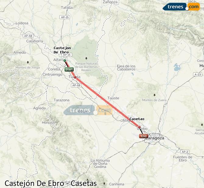 Karte vergrößern Züge Castejón De Ebro Casetas