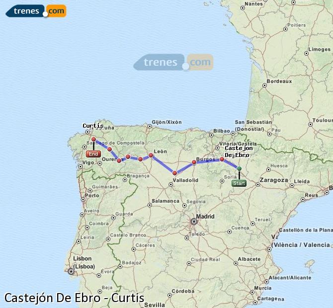 Karte vergrößern Züge Castejón De Ebro Curtis