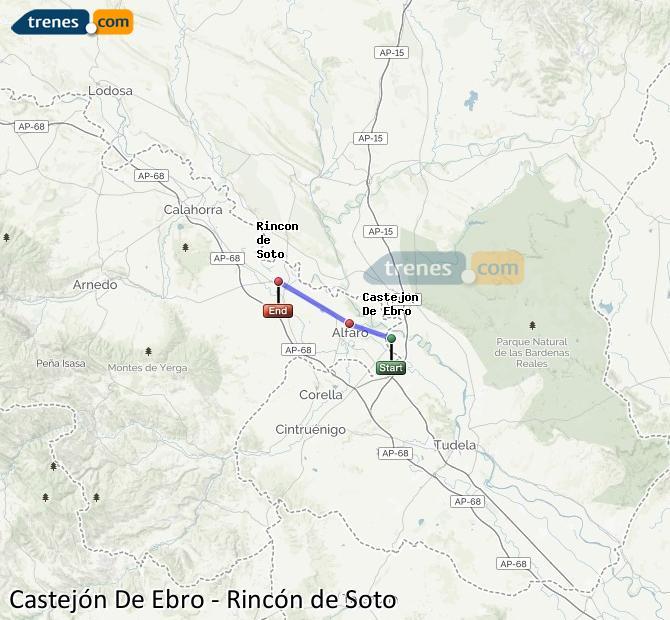 Karte vergrößern Züge Castejón De Ebro Rincón de Soto
