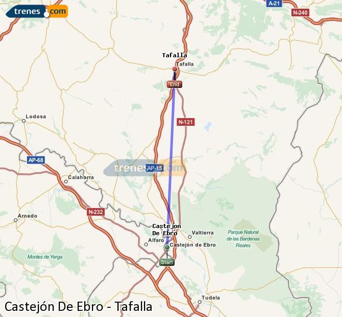 Ingrandisci la mappa Treni Castejón De Ebro Tafalla