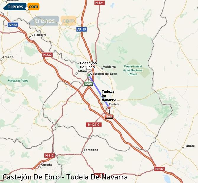 Ingrandisci la mappa Treni Castejón De Ebro Tudela De Navarra