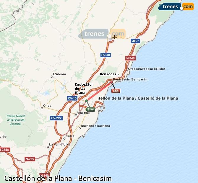 Ingrandisci la mappa Treni Castellón Benicasim