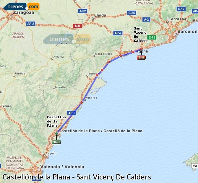 Cheap Castellon To Sant Vicenc De Calders Trains Tickets From 11 65