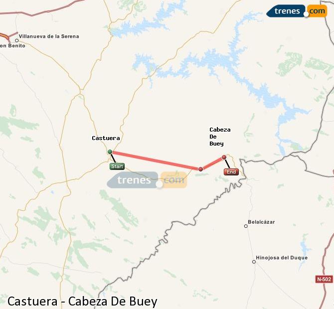 Ingrandisci la mappa Treni Castuera Cabeza De Buey