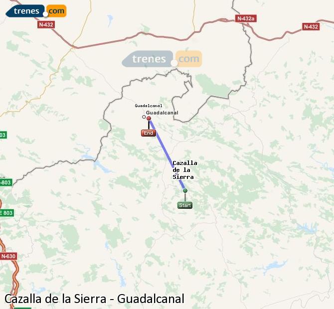Ingrandisci la mappa Treni Cazalla de la Sierra Guadalcanal