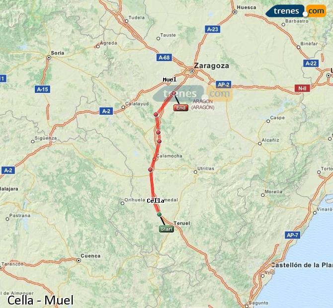 Ampliar mapa Comboios Cella Muel
