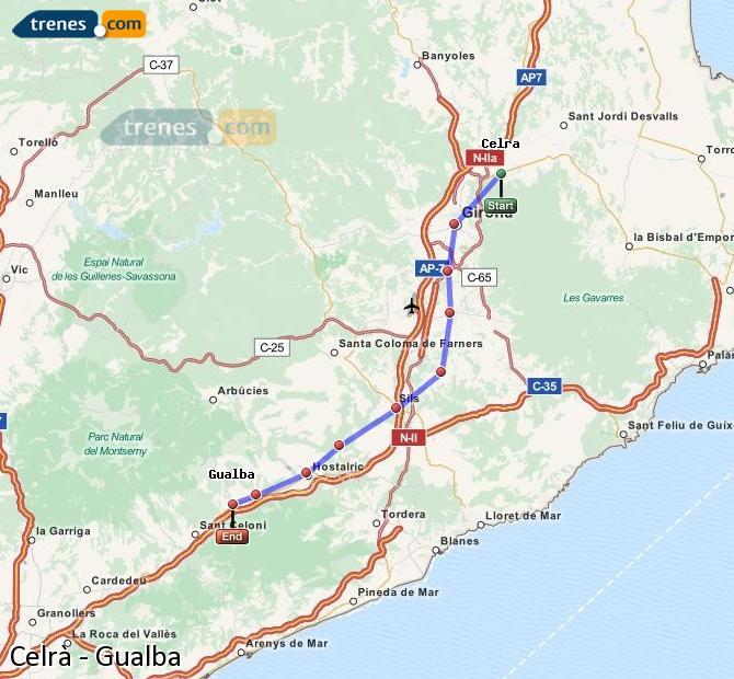 Ampliar mapa Trenes Celrà Gualba