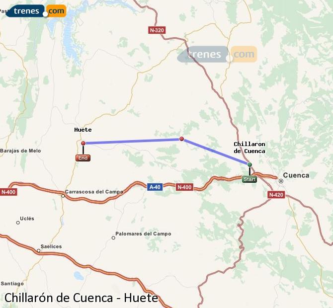 Ingrandisci la mappa Treni Chillarón de Cuenca Huete