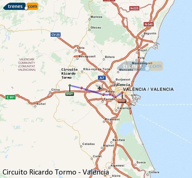 Circuito Valencia : Trenes circuito ricardo tormo valencia baratos billetes