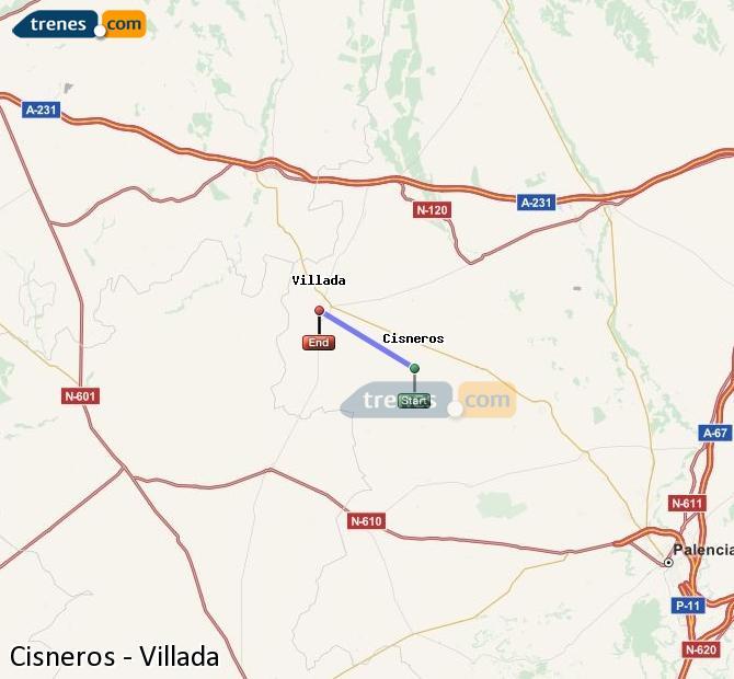 Ingrandisci la mappa Treni Cisneros Villada