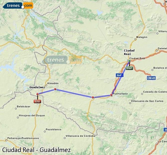 Ingrandisci la mappa Treni Ciudad Real Guadalmez