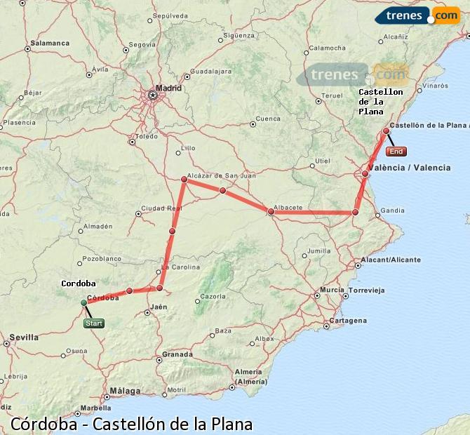 Ingrandisci la mappa Treni Córdoba Castellón