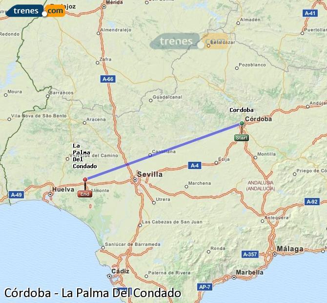 Ampliar mapa Trenes Córdoba La Palma Del Condado