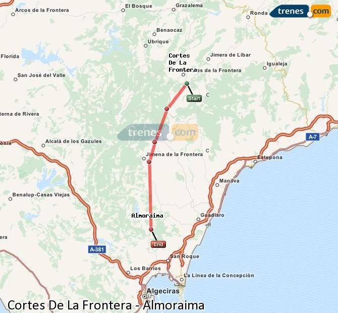 Ingrandisci la mappa Treni Cortes De La Frontera Almoraima