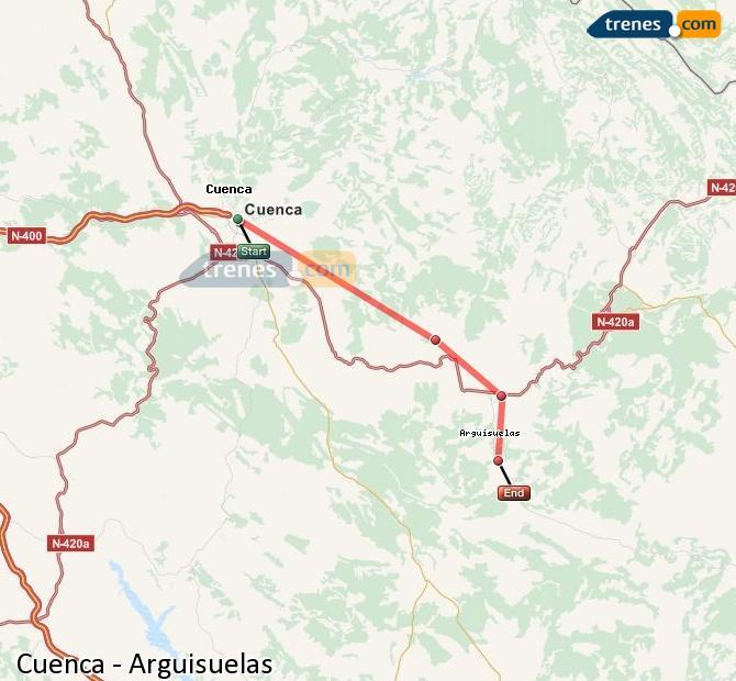 Ingrandisci la mappa Treni Cuenca Arguisuelas