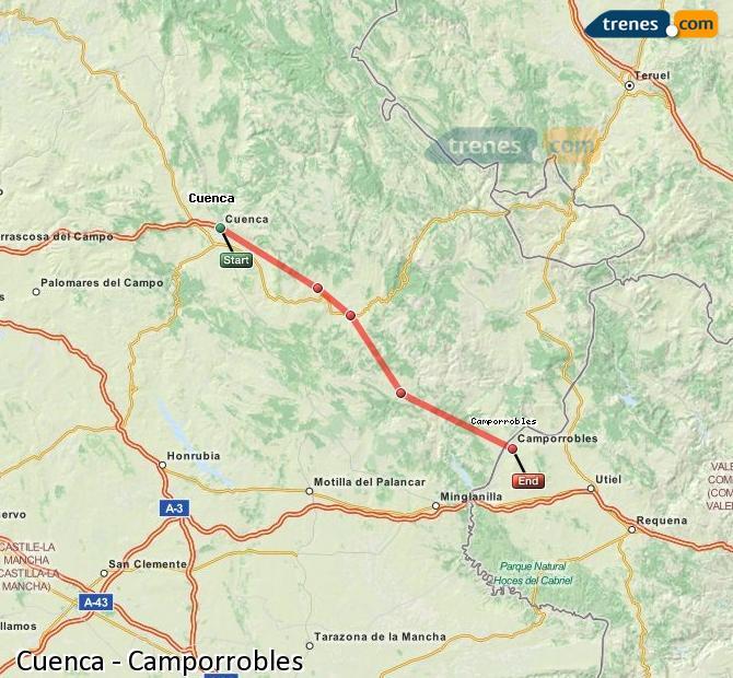 Ampliar mapa Trenes Cuenca Camporrobles
