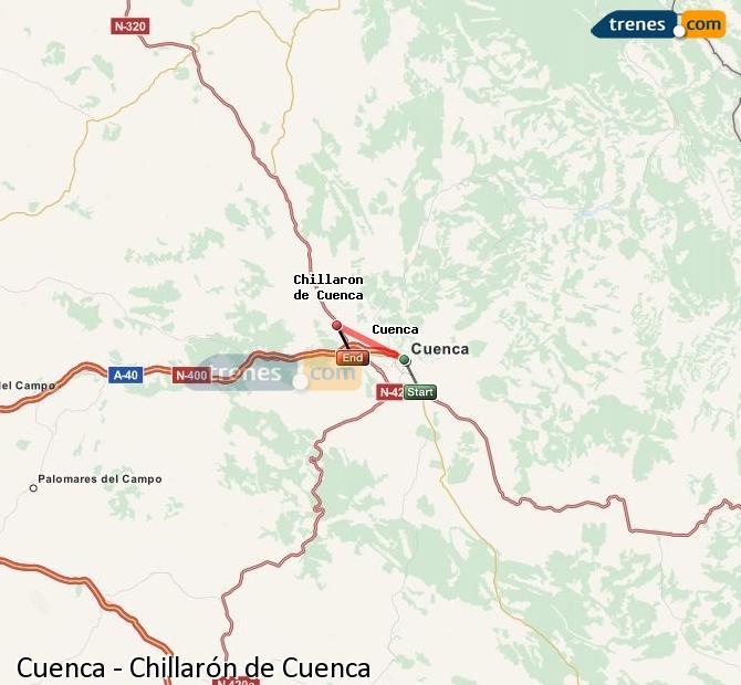 Ingrandisci la mappa Treni Cuenca Chillarón de Cuenca
