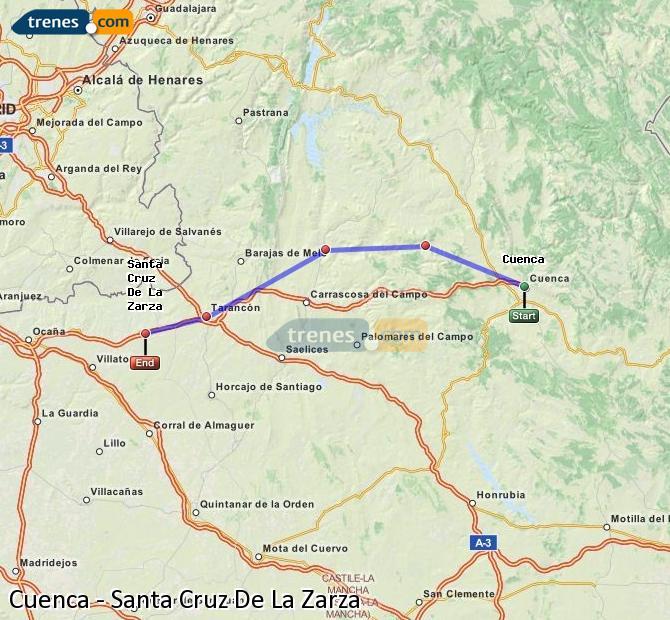 Ampliar mapa Trenes Cuenca Santa Cruz De La Zarza