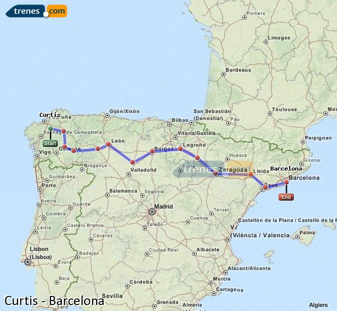 Ingrandisci la mappa Treni Curtis Barcellona