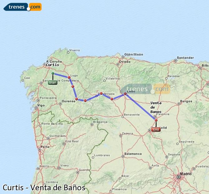 Ampliar mapa Comboios Curtis Venta de Baños