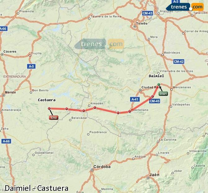 Ingrandisci la mappa Treni Daimiel Castuera