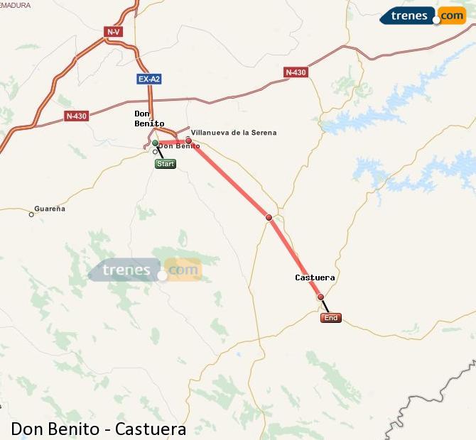 Ampliar mapa Trenes Don Benito Castuera