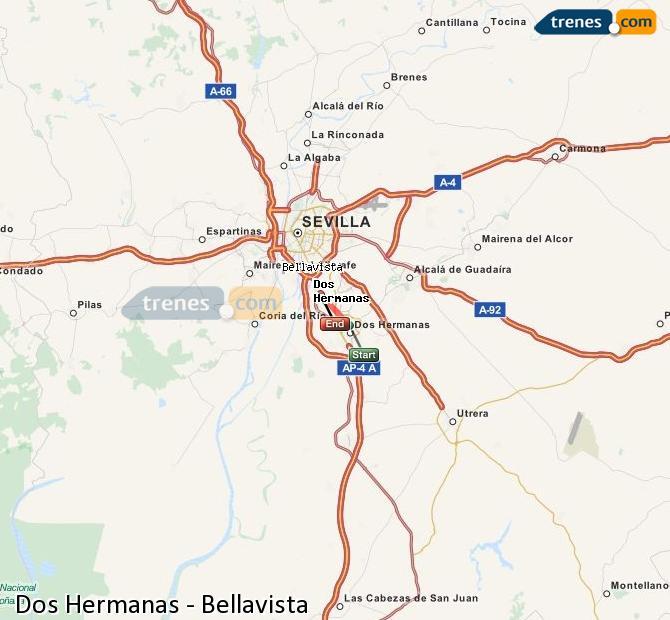 Ampliar mapa Trenes Dos Hermanas Bellavista